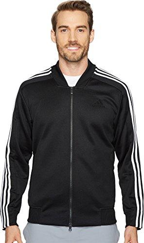 adidas Men's Sport ID Track Bomber Jacket Black/White X-Large