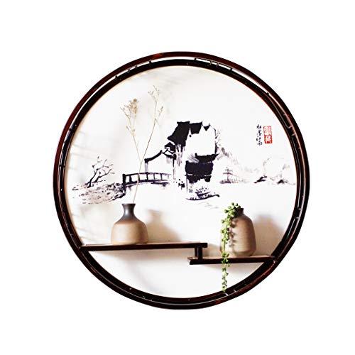 Estante de pared para el hogar, decoración zen, hierro forjado, para colgar en la pared, sala de estar, porche, colgar en la pared, duradero (color: C)