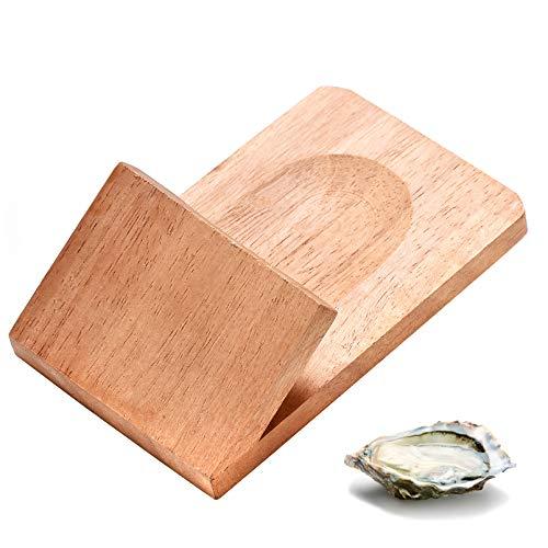 Oyster Shucking Clamp Austernhalter Öffner Werkzeug, natürliches Buchenholz