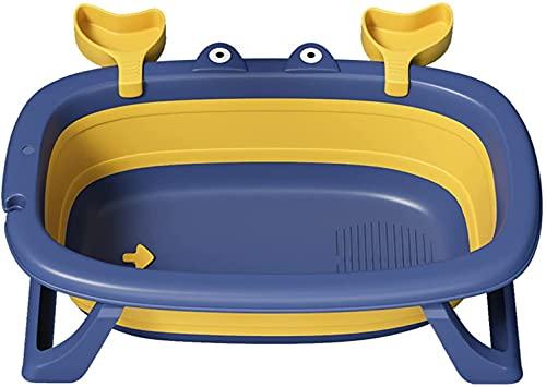 X&Z-XAOY Bañera Plegable para Bebés Ergonómico Plegable con Cojín Pata De Apoyo Antideslizante Portátil Durante 0-5 Años, para Baño Caliente Baño De Hielo