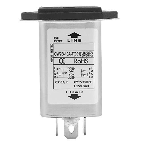 CW2B-10A-T Power-EMI-Filter mit Sicherung 2-in-1-Steckdose 125/250 V