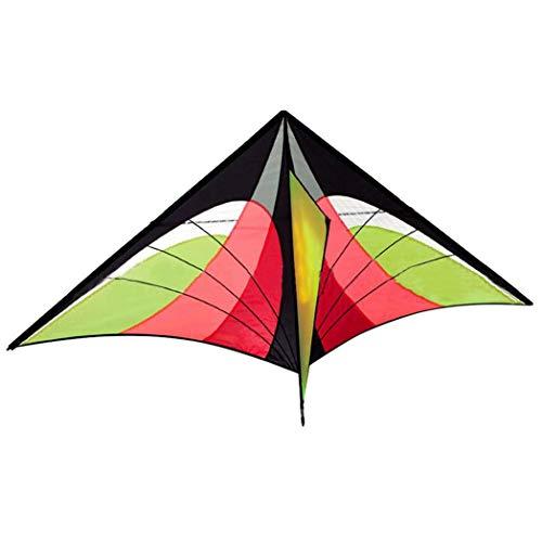 litty089 Multicolor de una sola línea de cometa con cintas de cola que vuelan deportes al aire libre niños regalo - naranja