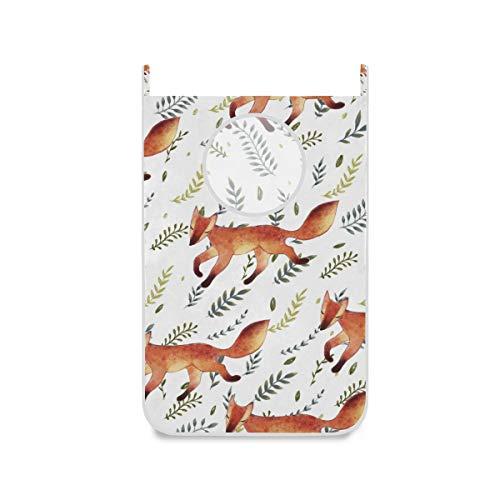 XiangHeFu Mand, grote vouwbare slaapkamer, stoffen tas, wasmand, deur, ophangend, Fox Leaf patroon