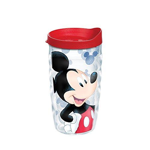 Tervis Disney – Copo Mickey Mouse Groovin Mickey com envoltório e tampa vermelha 283 g ondulado, transparente