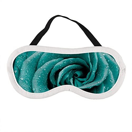 Máscara de ojos de pétalos de rosa azul máscara de ojos para dormir pétalos de rosa azul máscara de sueño regalo para él máscara de dormir