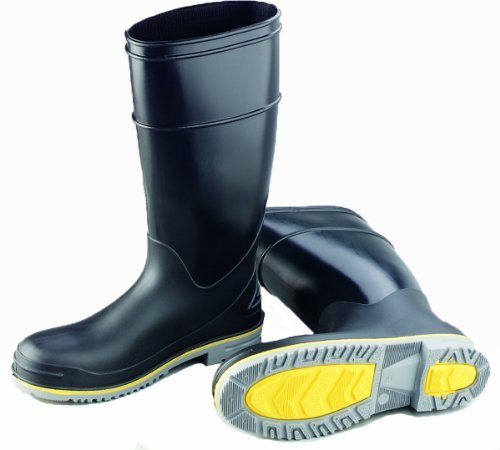 ONGUARD 89904 Polyblend PVC Flex 3 Men's Plain Toe KneeBoots with Power-Lug Outsole, 16