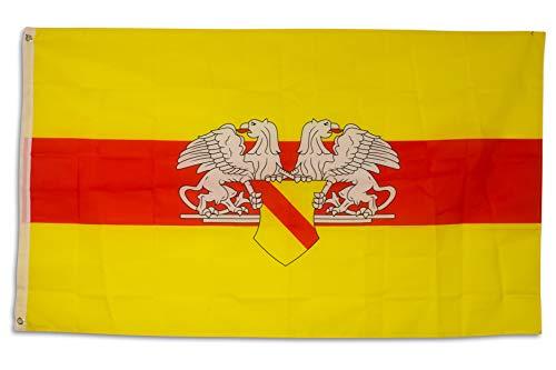 SCAMODA Bundes- und Länderflagge aus wetterfestem Material mit Metallösen (Baden) 150x90cm