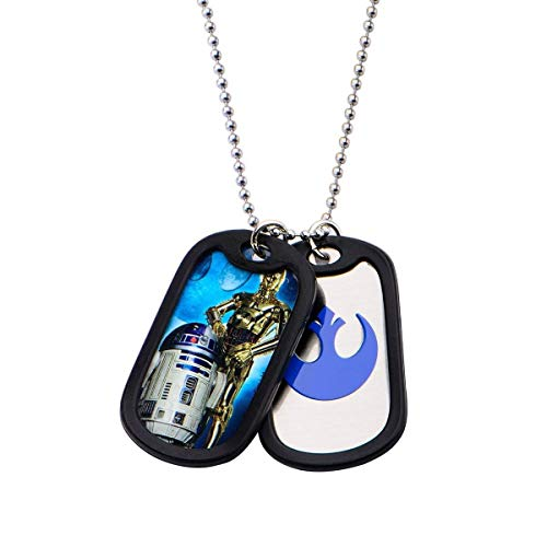 Star Wars R2D2 & C3PO Stainless Steel Necklace