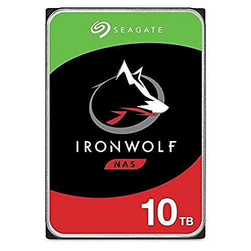 "Seagate Technology NAS HDD IronWolf - Disco Duro, 3.5"", 10000 GB, Serial ATA III, 7200 RPM"