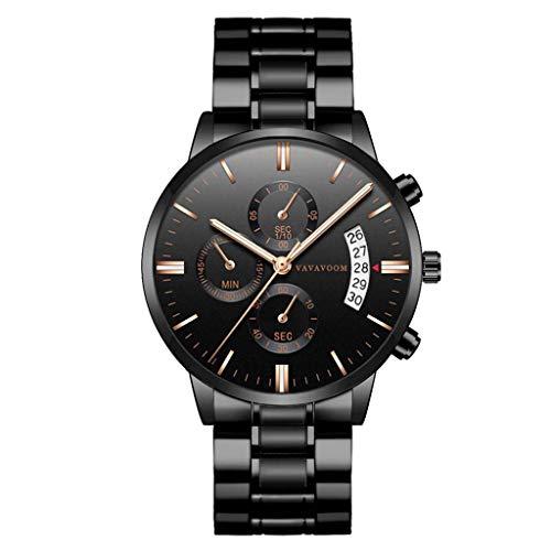 UINGKID Collection Unisex-Armbanduhr Mann-Luxus-beiläufige Uhr-Quarz-Edelstahl-wasserdichte Kalender-Uhr