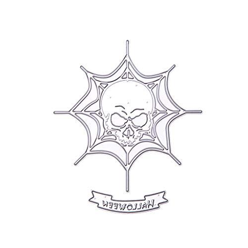 CADANIA Cráneo de Halloween Troqueles de Corte de Metal Plantilla DIY Scrapbooking Álbum Sello Tarjeta de Papel Estampado Artesanías Decoración
