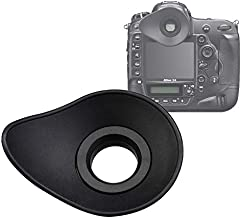 JJC EN-DK19 Large Eye cup for Nikon D500 D800 D800E D810 D850 D3 D4 D4S D5 Df, Ergonomic Design Oval Soft TPU Rubber Eye Piece, D850 eyecup, D800 EyeCup, D810 EyeCup, D5 EyeCup, as Nikon DK 19 Eyecup
