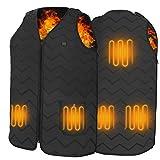 Chaleco Térmico Electrico para Hombre y Mujer, Tencoz USB Chaleco Calefactor con 3 Temperatura Controles para Camping Senderismo Esquí Pesca, Motocicleta ( Sin Batería )