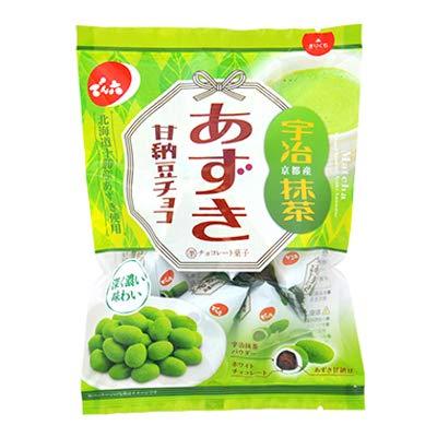 でん六 66gあずき甘納豆チョコ(抹茶) 66g ×12袋