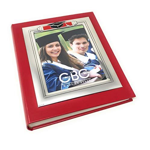 Album de Graduation en Argent 25X20 avec Cadre 13x18 cod.PF01967LU cm 25x20 by Varotto & Co.