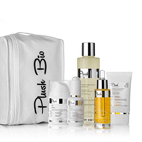 Plush luxuryBIOcosmetics - Depigmentation for face - set 5 products with one thermal bag gift - skin types: all