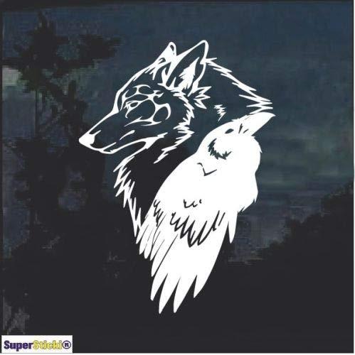 SUPERSTICKI Odin Thor Raven Wolf ca.20cm Aufkleber,Autoaufkleber,Sticker,Decal,Wandtattoo, aus Hochleistungsfolie,UV&waschanlagenfest,