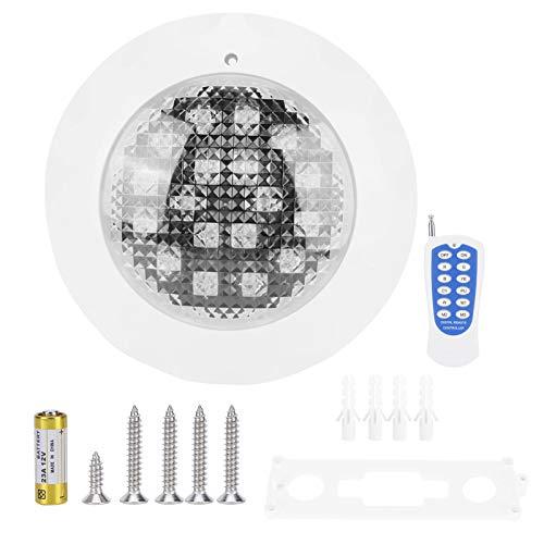 bizofft Luz de Piscina, Iluminación Exterior, Lámpara de Piscina RGB, Luminaria de Material ABS Impermeable, para Piscinas de iluminación subacuática
