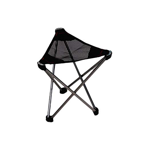 Acampa Plegable al Aire Libre del Taburete de Aluminio Ultra Ligero Plegable Triángulo de heces Silla portátil acampa de la Pesca del Bosquejo Ideal para picnics Camping Playa jardín