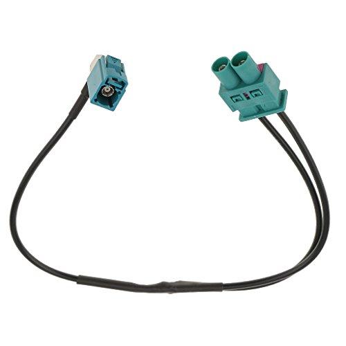 MagiDeal Double Mâle À Femelle Antenne Adaptateur Fil Connecteur pour VW pour Audi Auto Pièce
