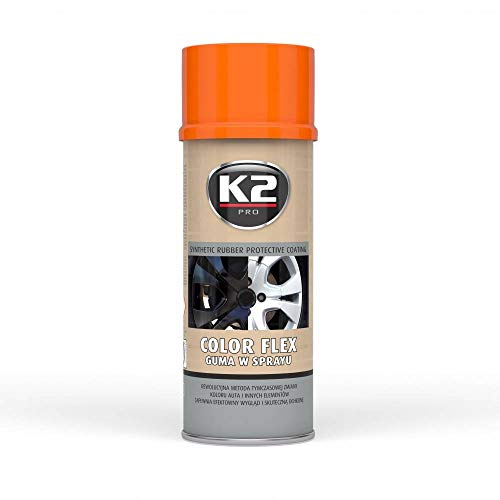 K2 Plasti Dip Farbe Flex Kunststoff orange Gummi Lack Spray Spraydose Dosen 400 ml