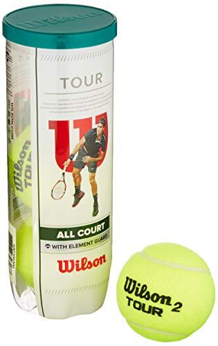 Wilson WRT106300 Palline da Tennis Tour All Court, Tubo con 3 Palline, per Tutte le Superfici, Giallo