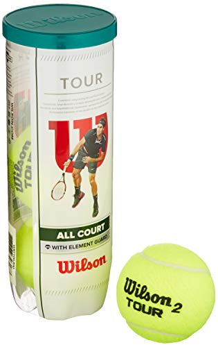 Wilson Tour All Court Pelotas de tenis, tubo con 3 pelotas, para...