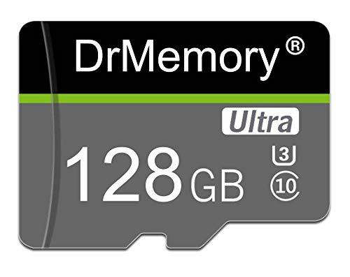 DrMemory - Tarjeta de memoria Ultra Micro SD UHS-I U3 de alta velocidad TF tarjeta MicroSD Clase 10 con adaptador SD (128 GB)