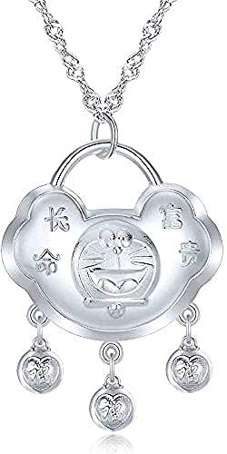 huangxuanchen co.,ltd Necklace S999 Full Silver Baby Baby Necklace Child Lock Full Moon Silver Long Life Wealth Lock
