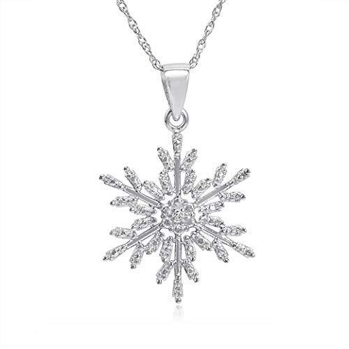 Original McPearl Diamant Anhänger mit Kette Schneeflocke. Top Qualität aus Deutschland.