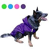 TUYU - Chubasquero para mascotas con sombrero, impermeable para cachorro de perro al aire libre chaqueta de poliéster – perro mediano, perro grande, impermeable de dos patas 1910CWL0175