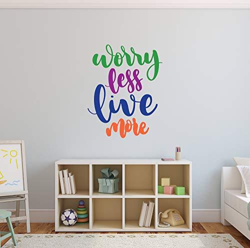 CG1821 Sticker mural en vinyle pour chambre d'enfant avec citation Live More