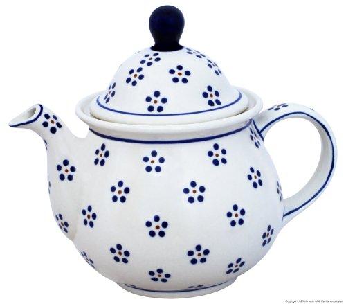 Original Bunzlauer Keramik Teekanne/Kaffeekanne 1,7 Liter im Dekor 1