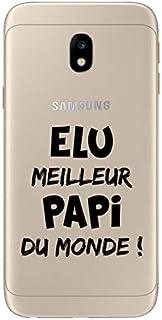 ZOKKO Case for Samsung J3 2017 - World's Best Papi - Transparent - Black Ink