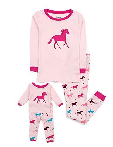 Leveret Kids & Toddler Pajamas Matching Doll & Girls Pajamas 100% Cotton...