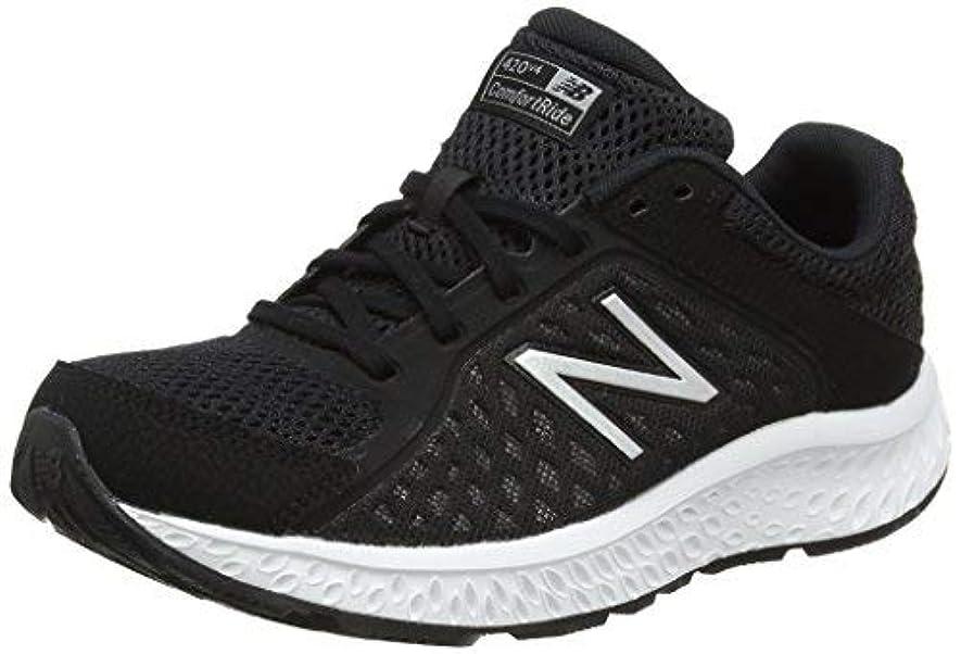 平均把握広いNew Balance Women's 420v4 Cushioning Running Shoe Black/Silver 8.5 B US [並行輸入品]