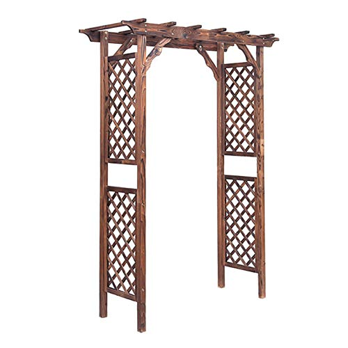 Garden Arbor Wood, Garden Arches and Arbors - Trellis Sides for Climbing Plants - Durable Fir Wood Material - 56×19.6×86.2in