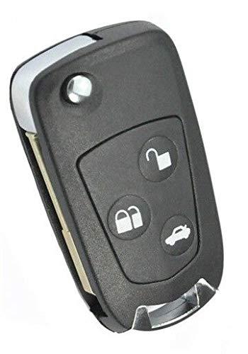 Ford Klappschlüssel Umbau Kit 3 Tasten Gehäuse Tibbe Rohling Autoschlüssel Neu