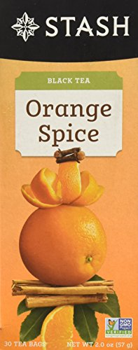 Stash Tea Orange Spice Black Tea, 30 Count