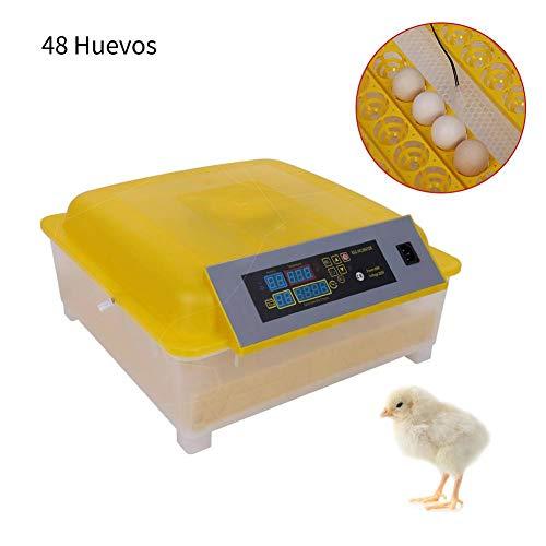 Incubadora Automática de 48 Huevos con Control de Temperatura Inteligente de Pantalla para Aves Huevo de Eclosióne