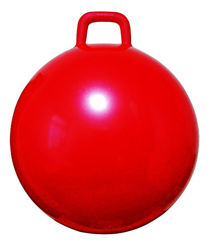 AppleRound Space Hopper Ball with Air Pump: 28in/70cm Diameter for Ages 13 and Up , Hop Ball, Kangaroo Bouncer, Hoppity Hop, Jumping Ball, Sit and Bounce