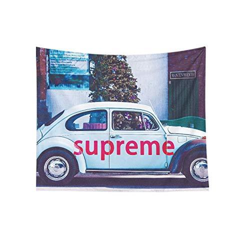 N / A Tapiz de Coche de Escarabajo Retro de Montaje en Pared Tapiz de Playa de Verano decoración de Pared del hogar Tapiz de decoración de Tela de Fondo A2 150x200cm