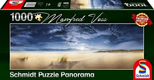 Schmidt Spiele Puzzle 59623 Manfred Voss, Unendliche Weite, Sylt, 1000 Teile Panorama - Puzzle, bunt