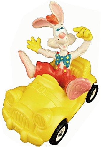 FALSCHES SPIEL MIT ROGER RABBIT Kunststoff Figur ROGER im gelben Auto, ca. 8cm
