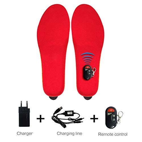 USB Charging Remote Control Electric Hot Pad Warm Foot Treasure,Electric Heated Shoe Insoles Rechargeable Heated Insole Soft and Comfortable Feet Warmer