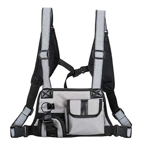 Balai Chest Rig Bag, Hip Hop Streetwear Cross-Gürteltasche vorne, Coole Funktionelle Taktische Unisex-Brusttasche, Radio Harness-Rucksack