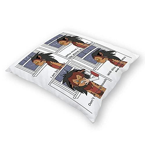 ChenZhuang Catra Comic Pilloases Piso Pilloases Pilloases Sofá Cojines Fundas de Cojín Fundas de Respaldo Coche Interior