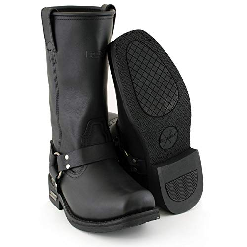Xelement 1442 'Classic' Men's Black Harness Motorcycle Biker Boots - 11