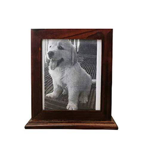 Ncbvixsw Holzurne für Haustiere, einfacher Bilderrahmen, für Asche, idealer Ruheplatz, praktisch für Katzen, Hunde, Welpen, Katzenspielzeug