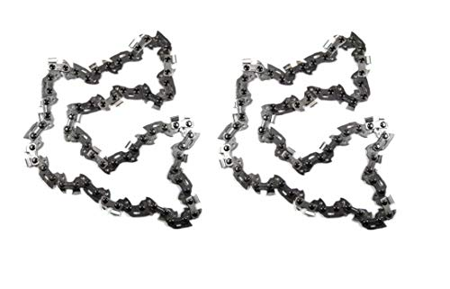 2PC 8 in Replacement Pole Saw Chain Fits Ryobi RY43160 P4361 Pole Saw